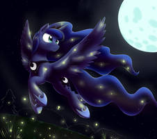 Luna's fireflies by otakuap