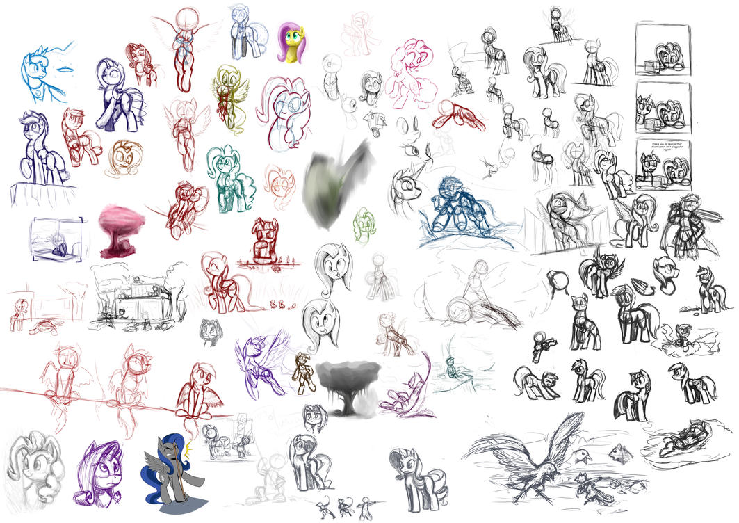 Sketch Dump 3 by otakuap