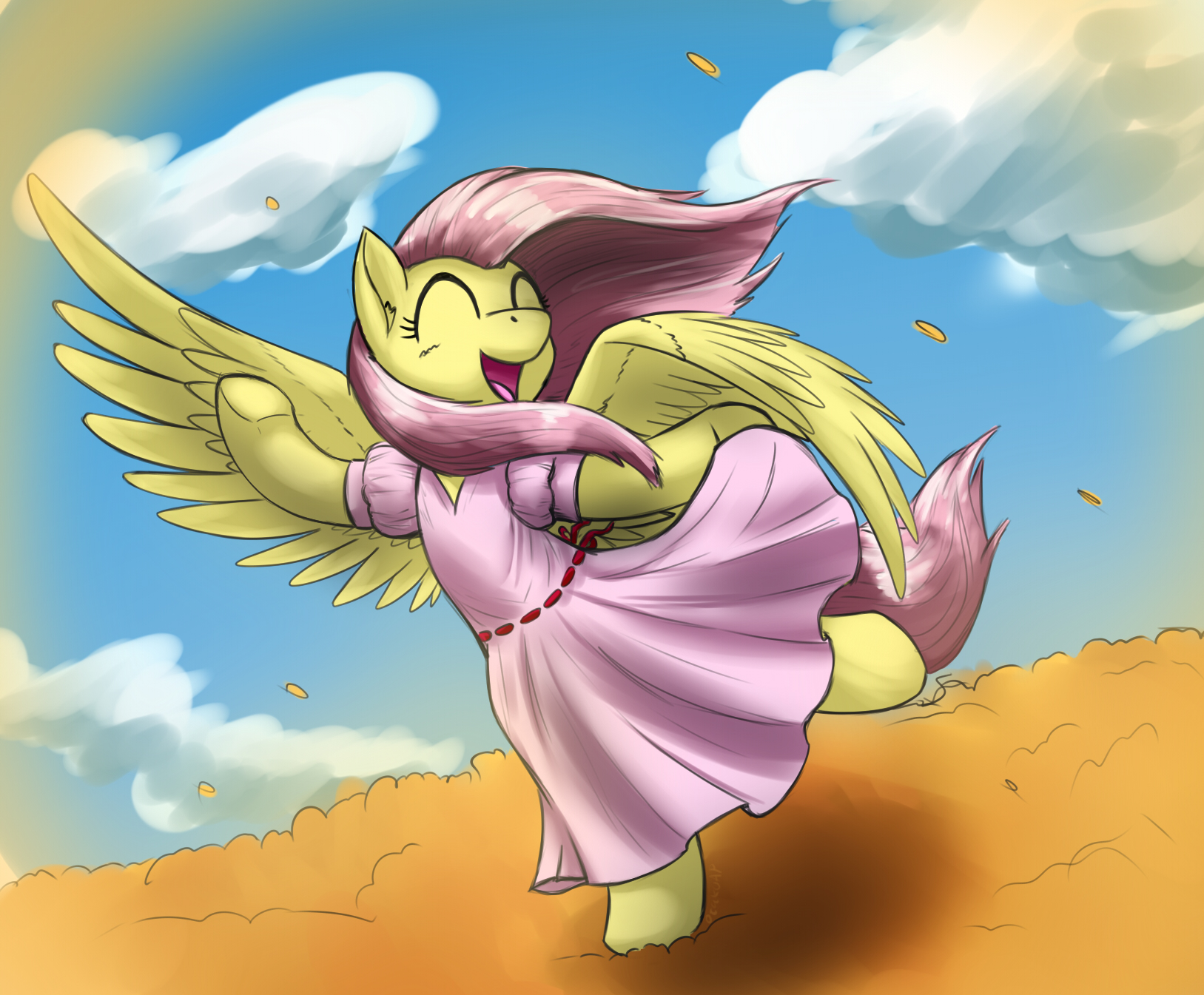 Fluttershy In Dress
