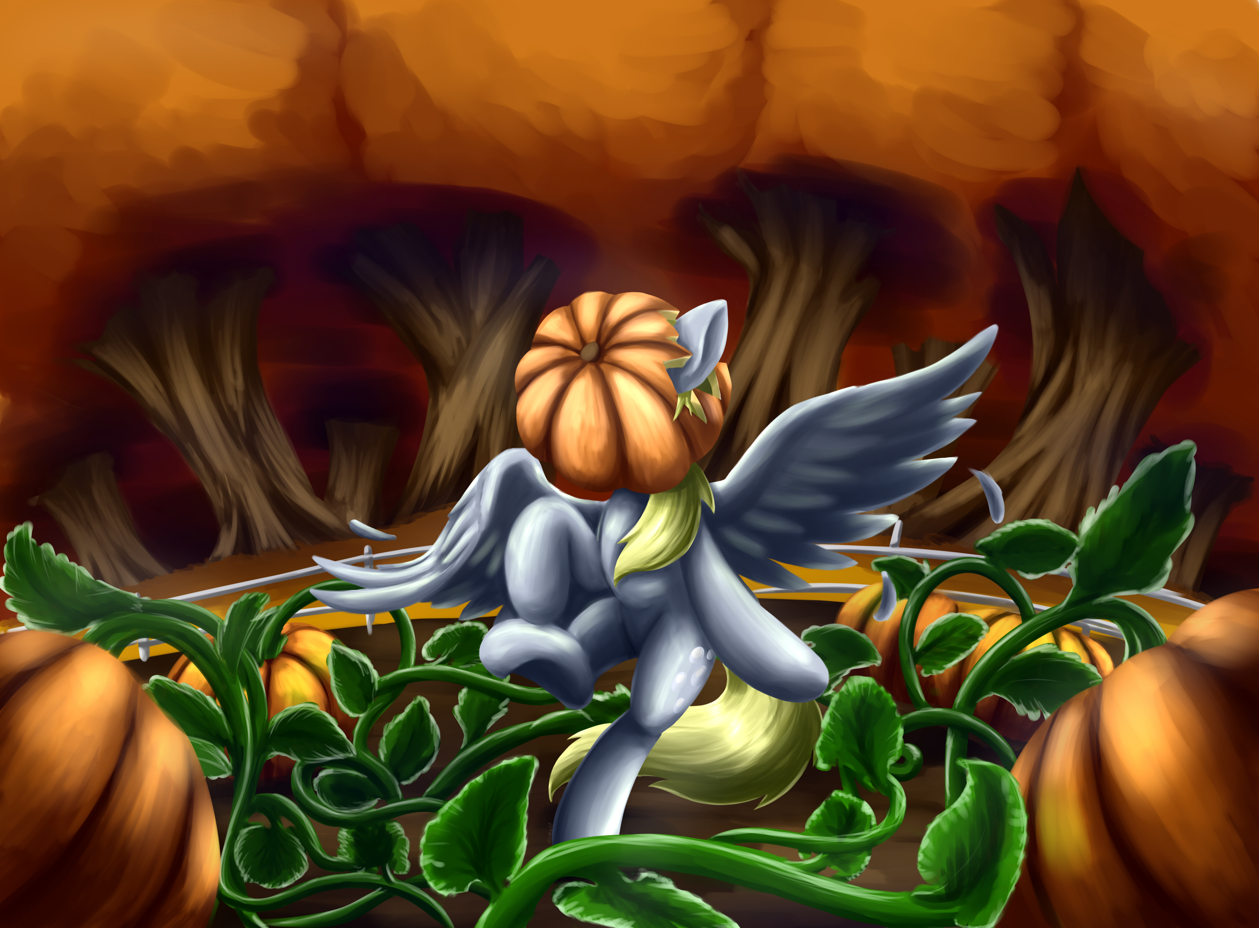 In the pumpkin patch by otakuap