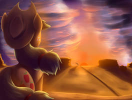 Desert Apple Sunset by otakuap