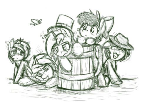 Drunk Ponies by otakuap