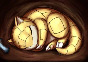 Sleepy Sandsrew by otakuap