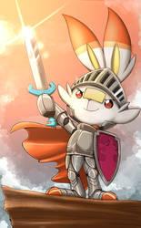 Scorbunny Knight by otakuap