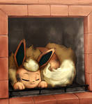 Flareon Sleeping Place