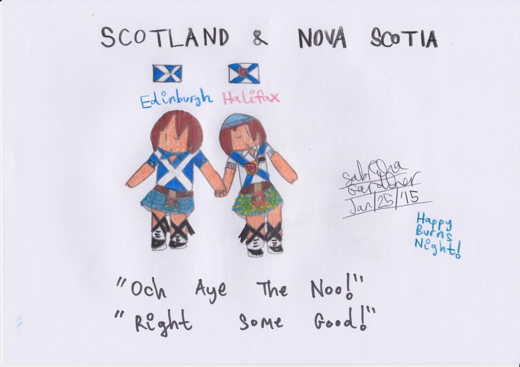 (APH) Scotland + Nova Scotia by TheRealCanadianBoys
