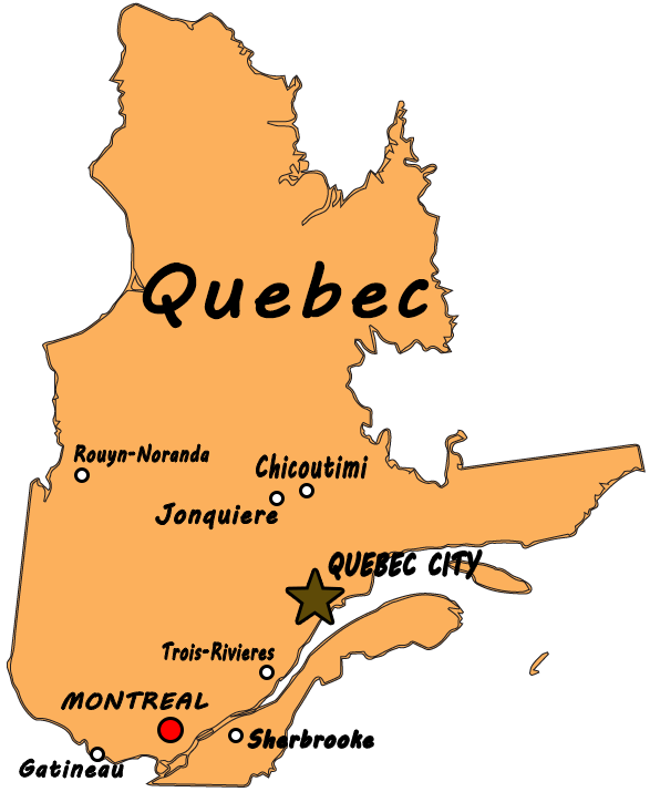 Custom Quebec Map With Cities by TheRealCanadianBoys on DeviantArt
