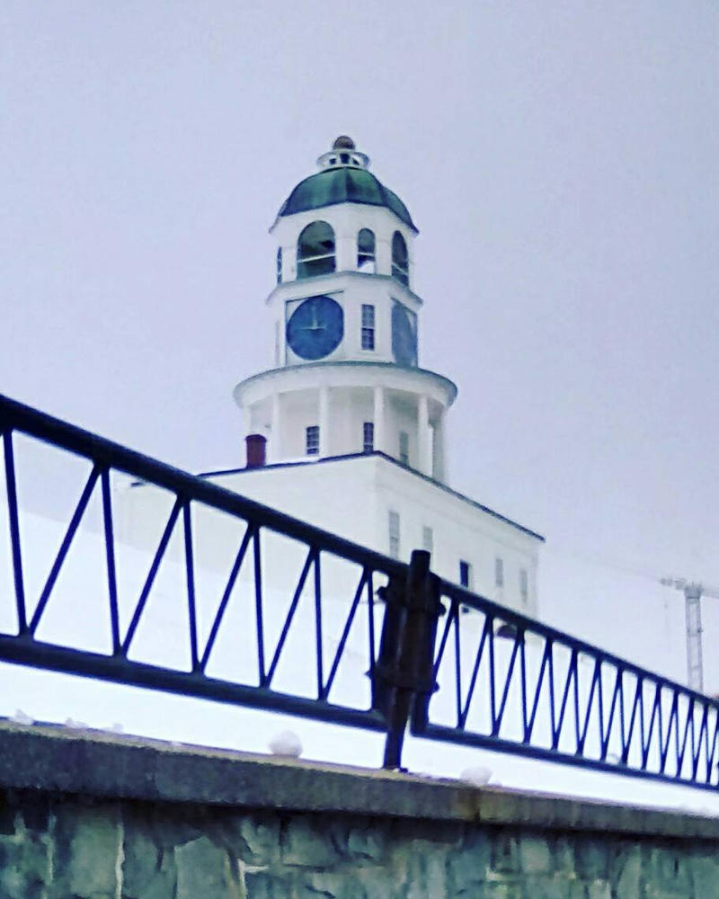 Snowy Halifax Clock Tower by TheRealCanadianBoys