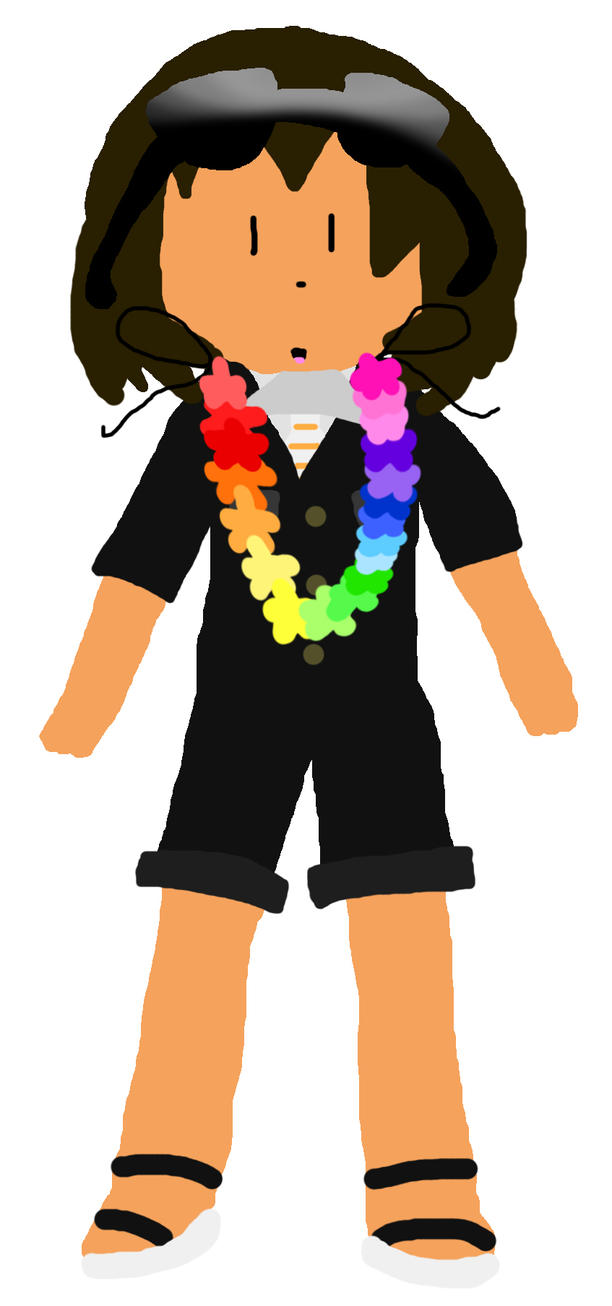 Jollimore Wearing a Lei by TheRealCanadianBoys