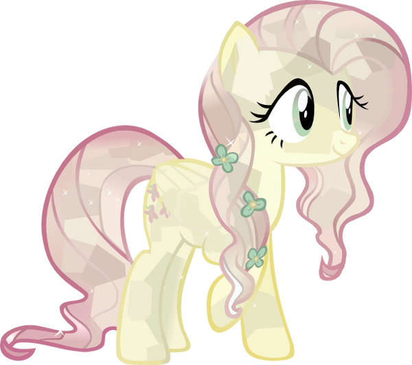 Crystal Fluttershy (vector) by BlueAthomBomb
