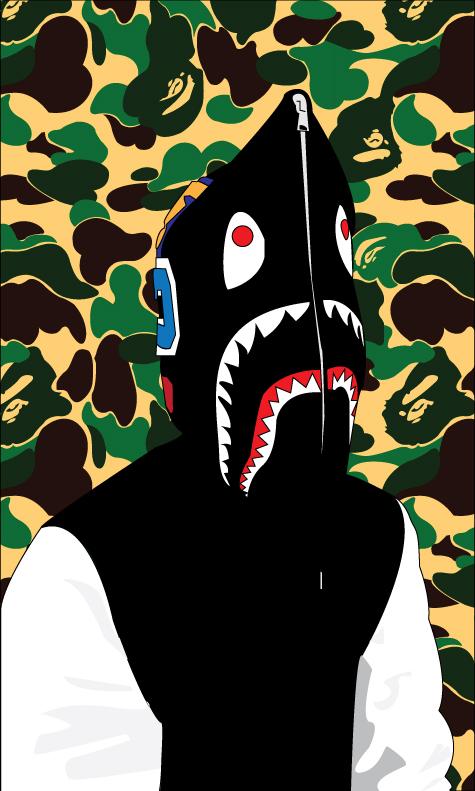 bape shark hoodie vector by finalreality56 on deviantart
