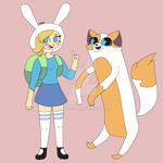 Fionna and Cake - Adventure Time (Unshaded)