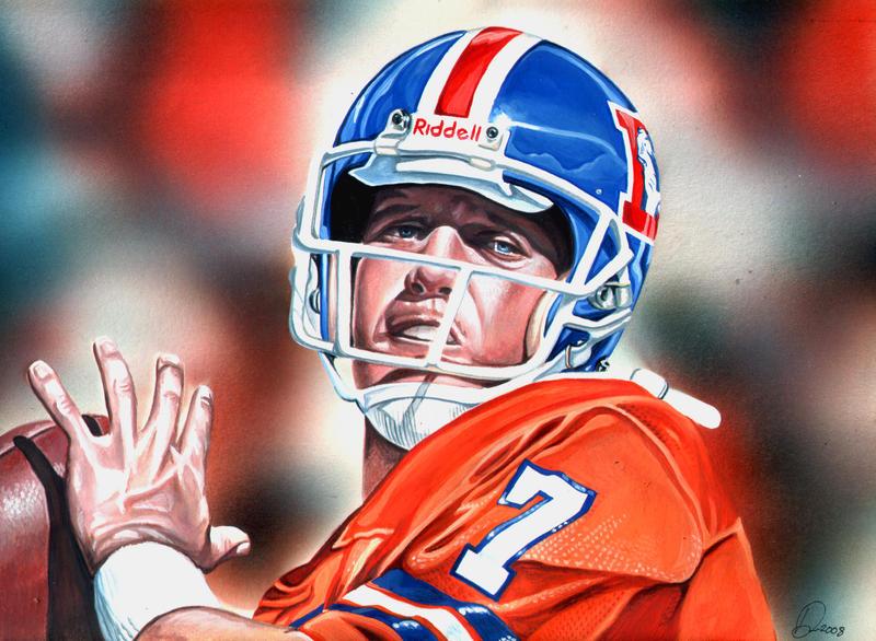 John Elway Broncos Wallpaper John Elway by Retrodan16