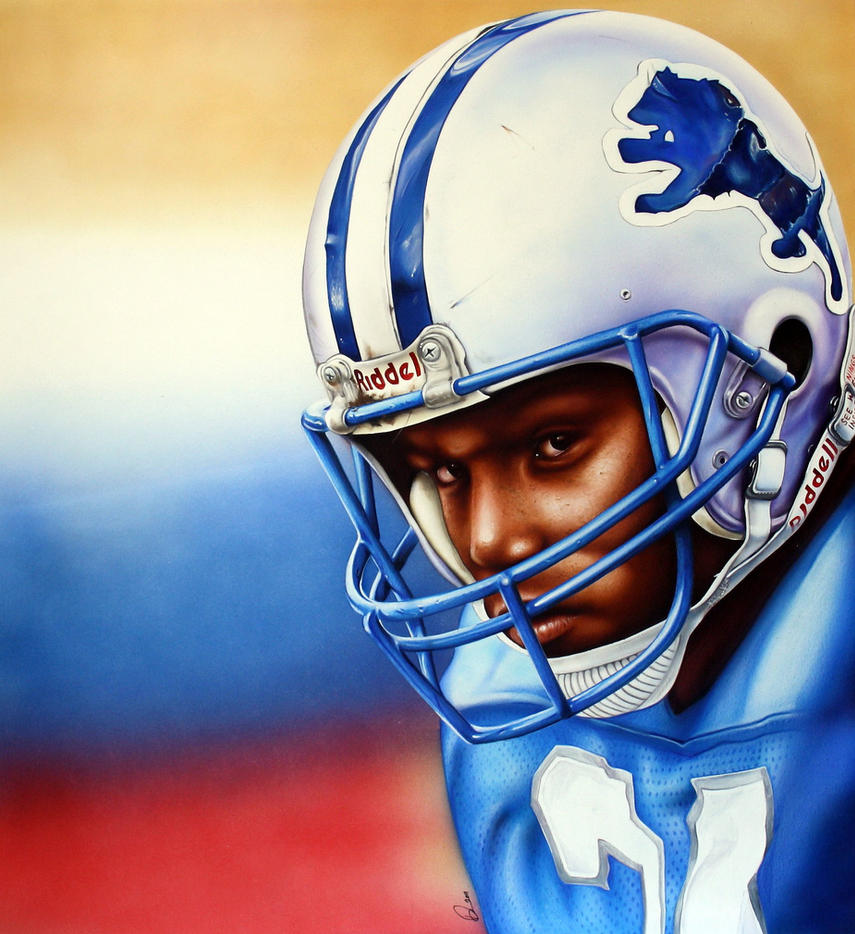 Barry Sanders By Retrodan16