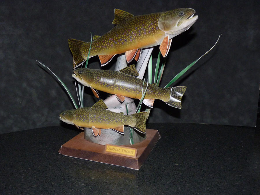 Papercraft Trout by zandere123