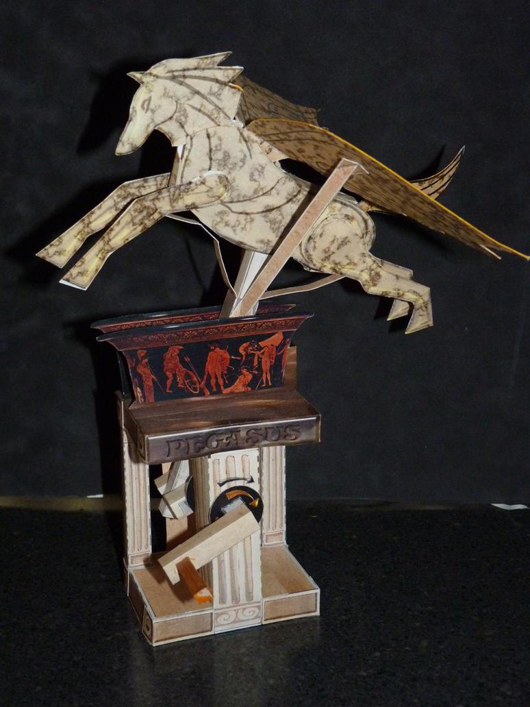 papercraft automata  PEGASUS by zandere123