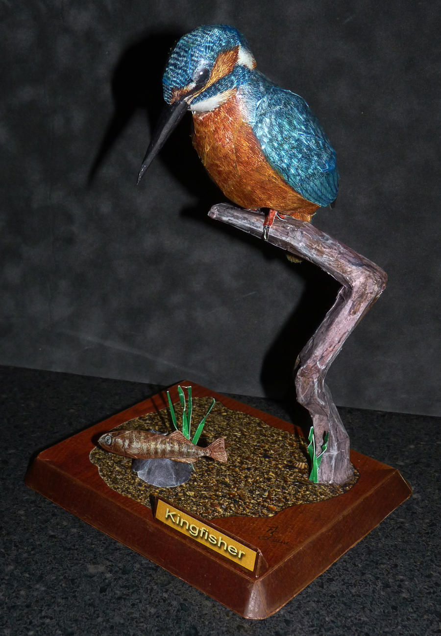 Papercraft Kingfisher by zandere123