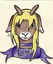 Sleepie Sheepie FWA 2012 Conbadge by Athdaraxen