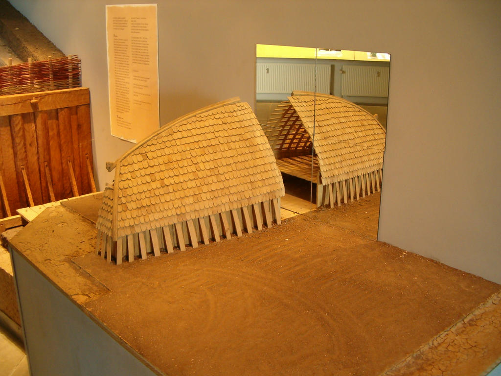 Longhouse model viking longhouse cross section