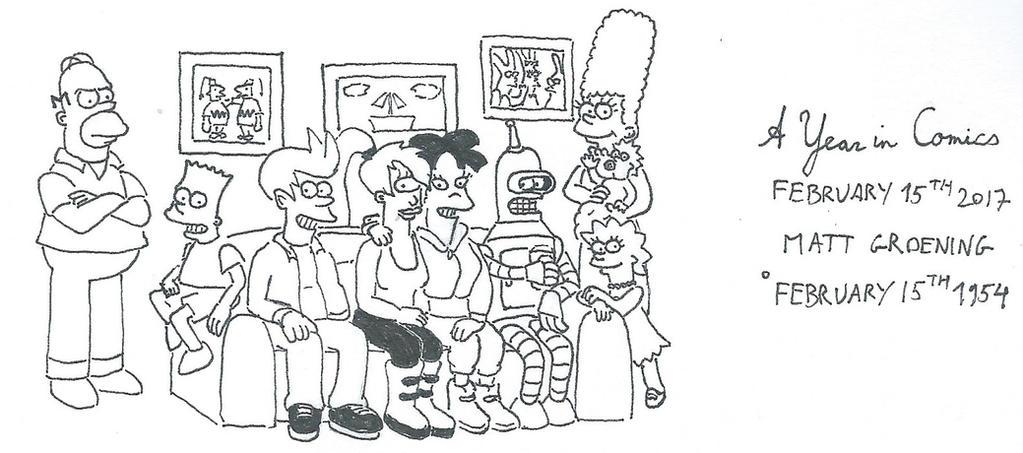 February 15th - Matt Groening by kanyiko