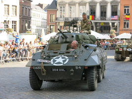 Tanks in Mons: Greyhound on the Grand Place
