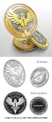 Cryptocurrency coin design3