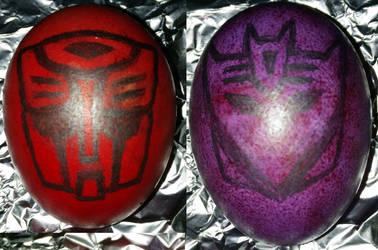 Transformers Eggs (Autobot and Decepticon symbols)