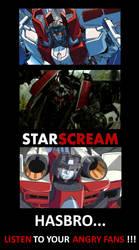 Starscream Comparison (Older and Newer)