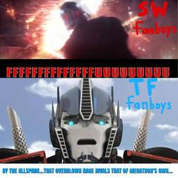 Fanbase VS Fanbase: Transformers and Star Wars