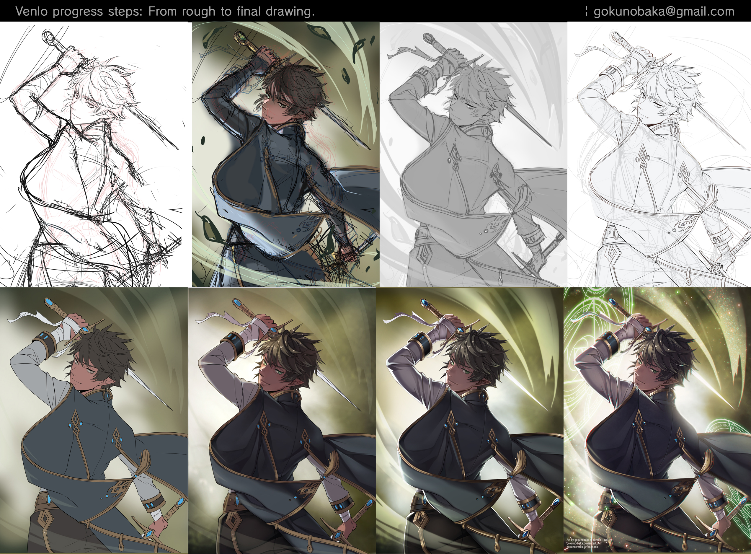 + Stealth Hunter - Venlo + Process shot. by the-gokunobaka