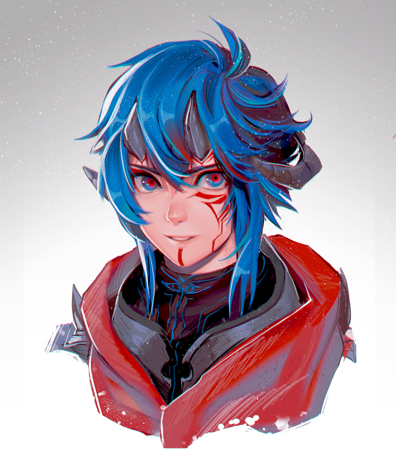 +Blue and Red+ by the-gokunobaka