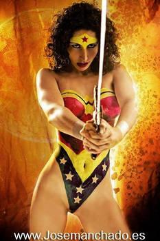 Wonder Woman Body Paint by Jose Manchado