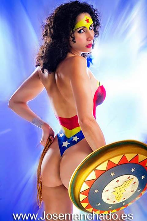 Wonder Woman Body Paint by Jose Manchado by Morganita86