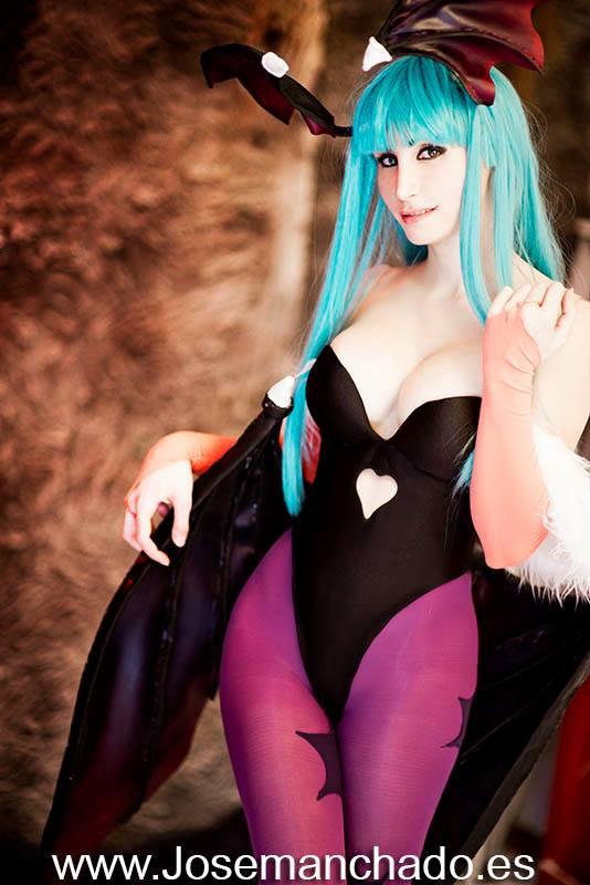 Morrigan cosplay from Darkstalkers by Morganita86