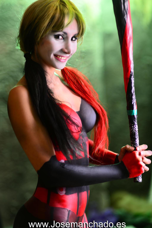 Harley Quinn Bodypaint by Jose Manchado by Morganita86