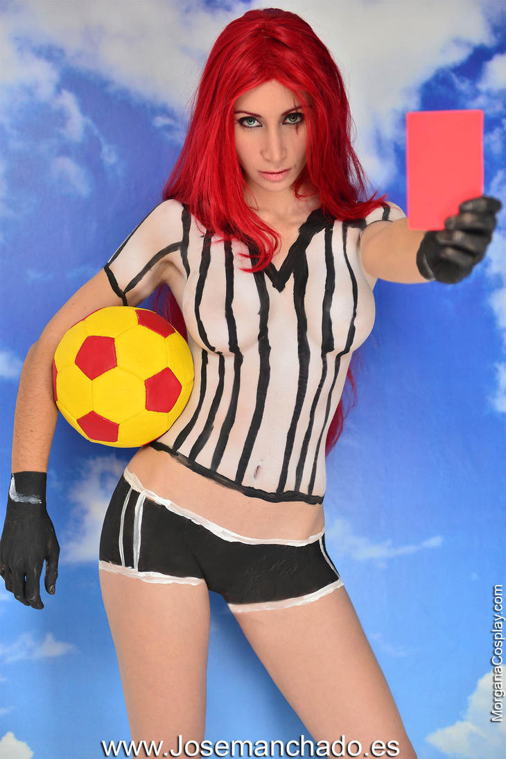 Red Card Katarina Bodypaint from League of Legends by Morganita86