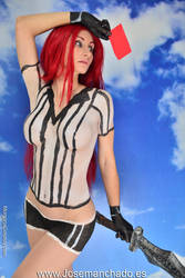 Red Card Katarina Bodypaint from League of Legends by MorganaCosplay