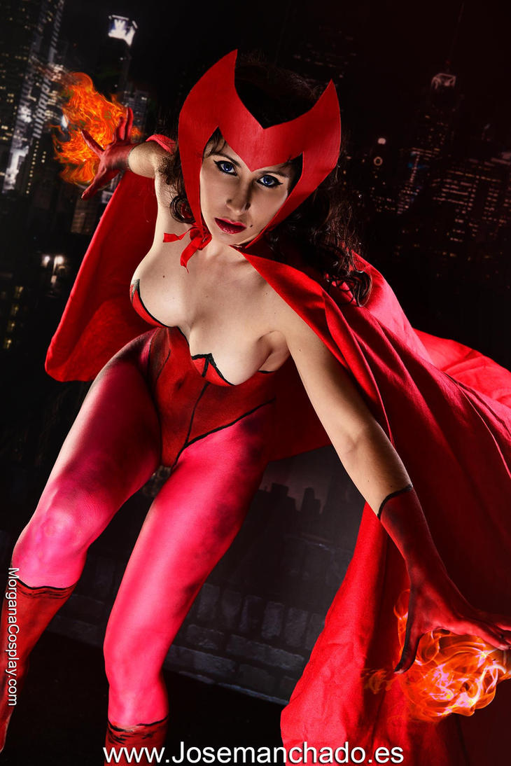 Scarlet Witch Bodypaint by Morganita86