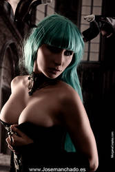 Geek and Sexy - Morrigan Boudoir Version