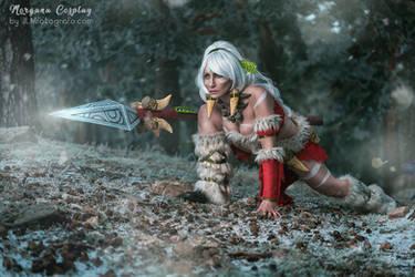Snow Bunny Nidalee by MorganaCosplay