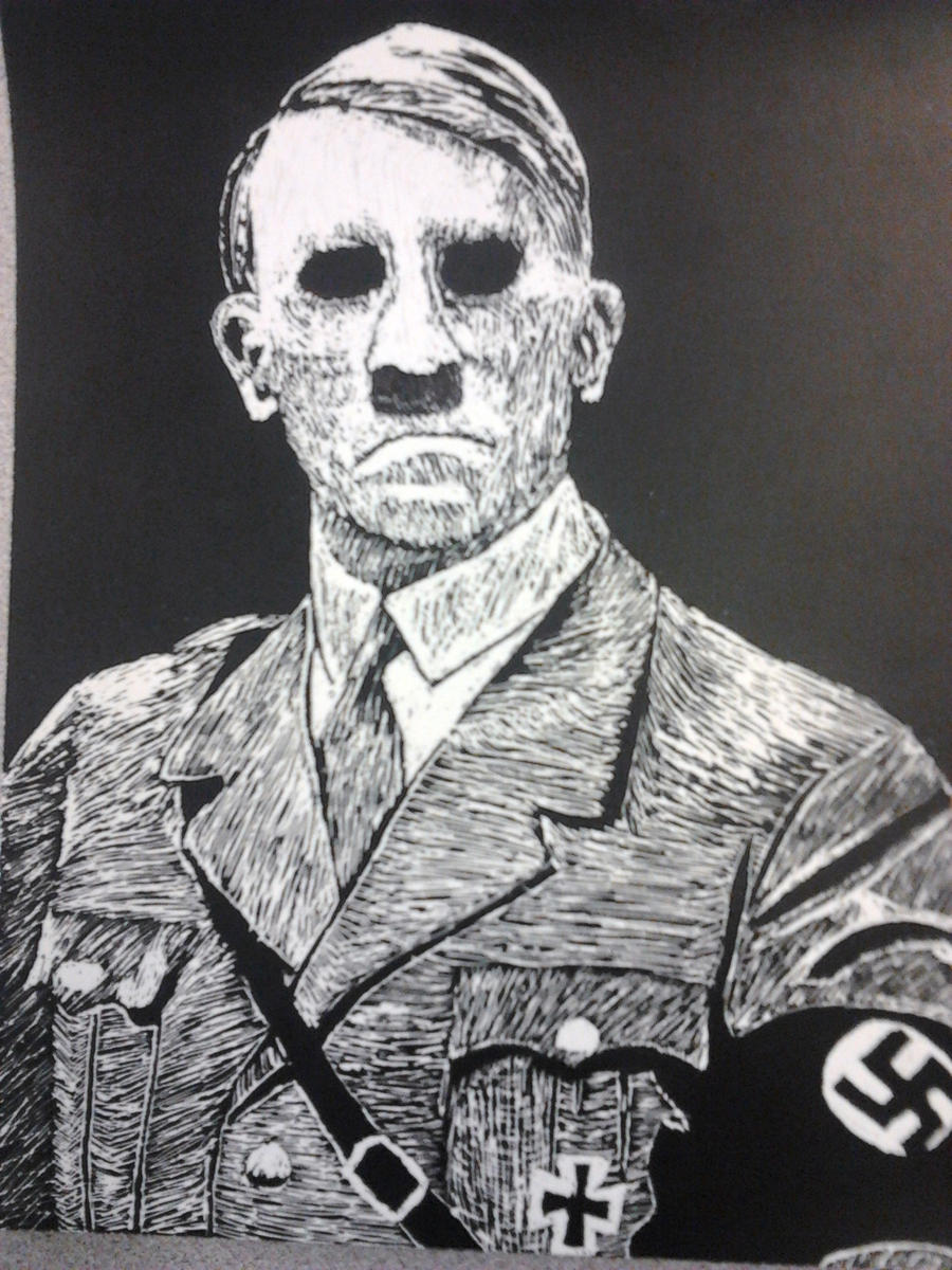 Hitler the Murderer Scratch Art by Crowbariswin