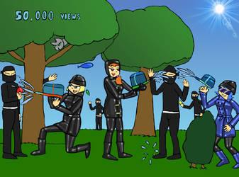 50K Pageviews - Water Fight by NinjaNick101