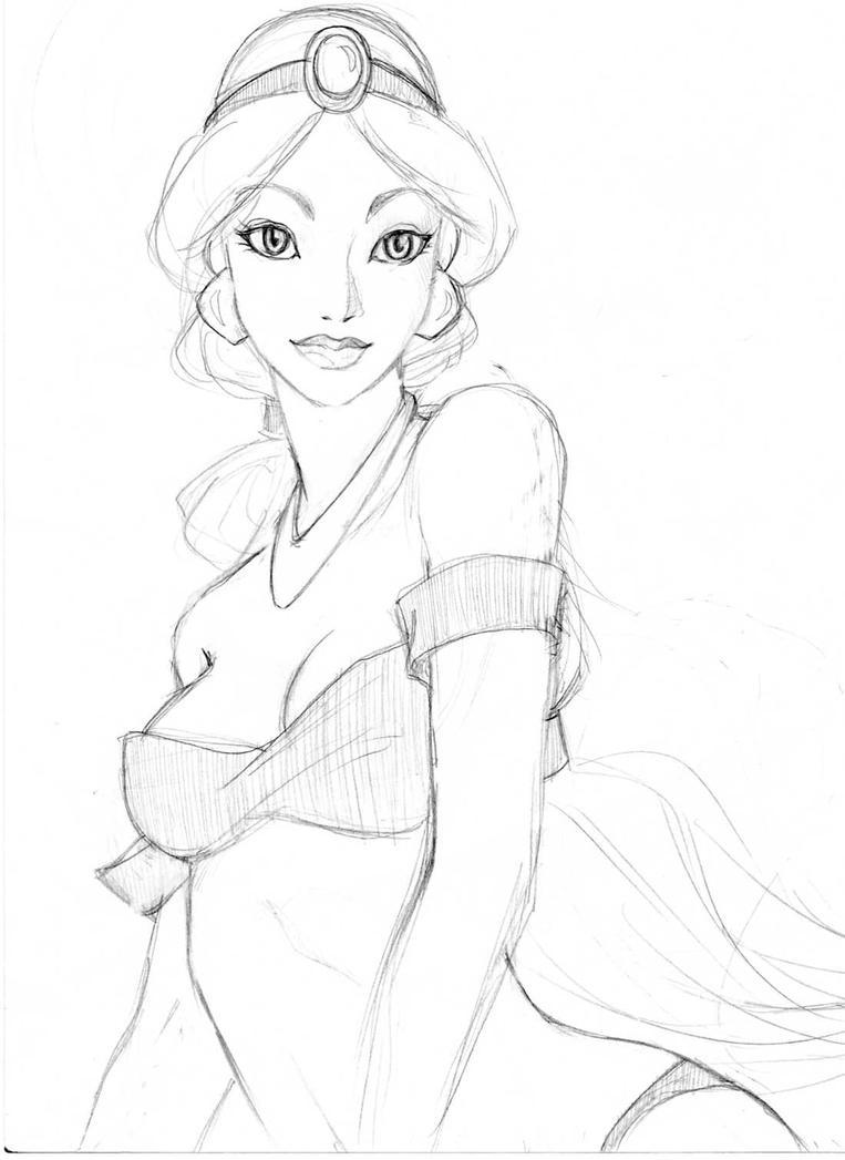 Princess Jasmine WIP by MaliceDogg on DeviantArt