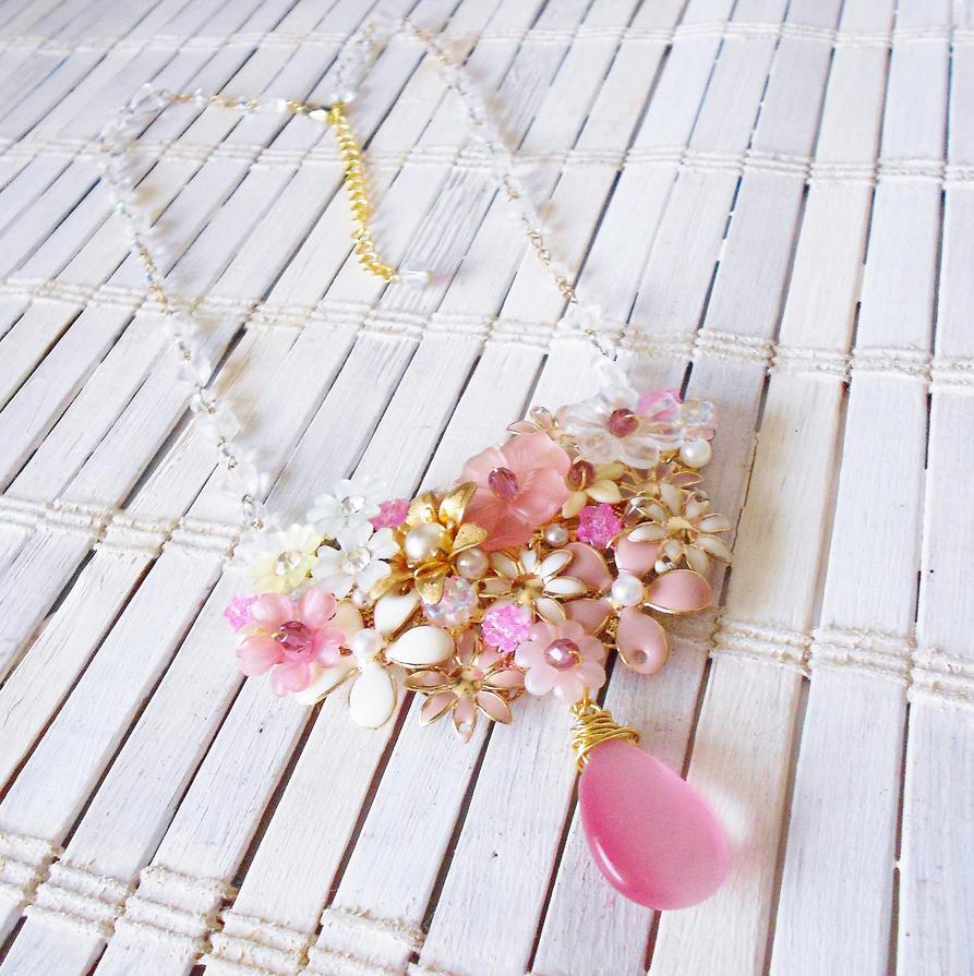 Blossom Necklace by RetroRevivalBoutique