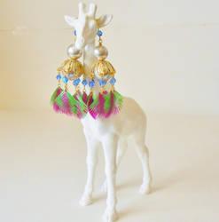 Flora Exotica Chandelier Earrings