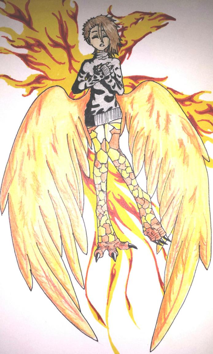 Phoenix monster girl by BruiseyandKeith1