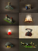 Some icons for games via www by brainchilds