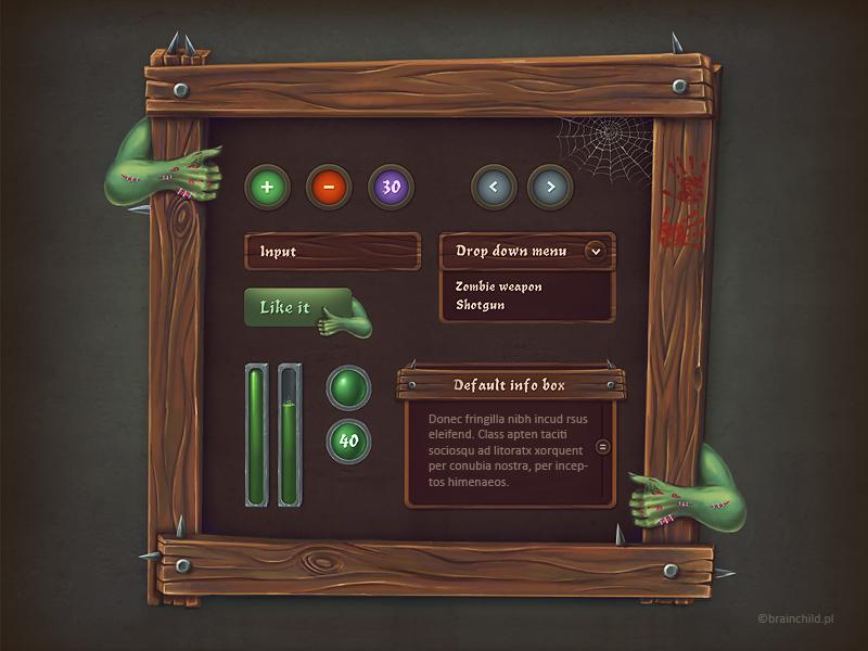 Zombie GUI set by brainchilds