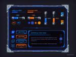 Sci-fi GUI set