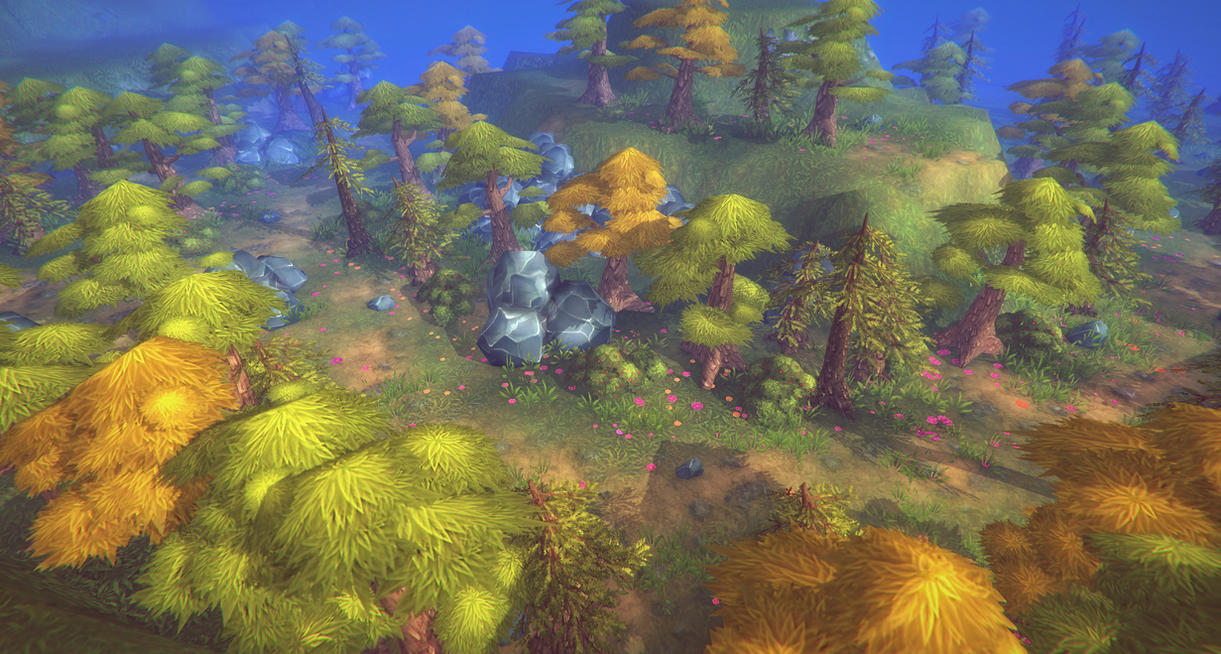 3d enviro assets for a mobile game - Very Low poly by brainchilds